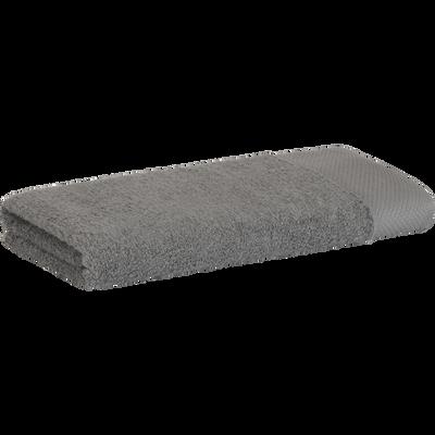 Serviette en coton 50x100cm gris restanque-AZUR