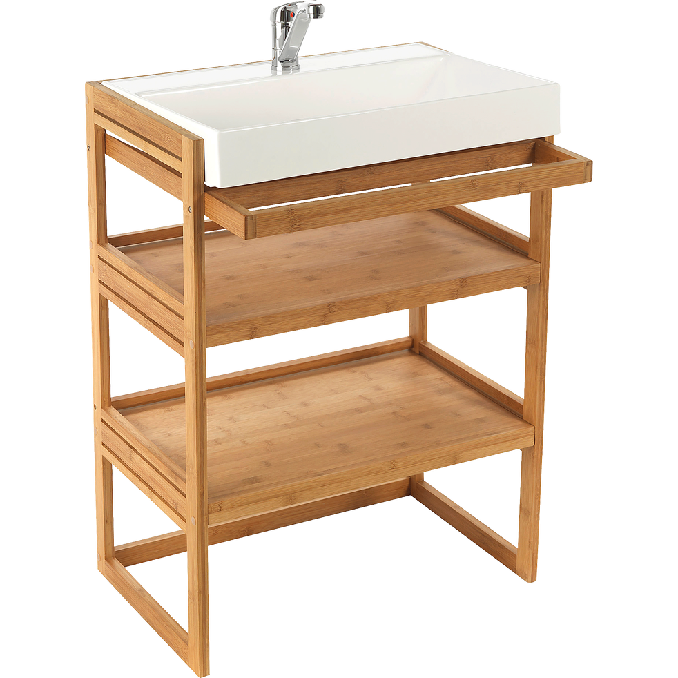 Meuble sous vasque naturel danong meubles sous vasques alinea - Meuble sous vasque alinea ...