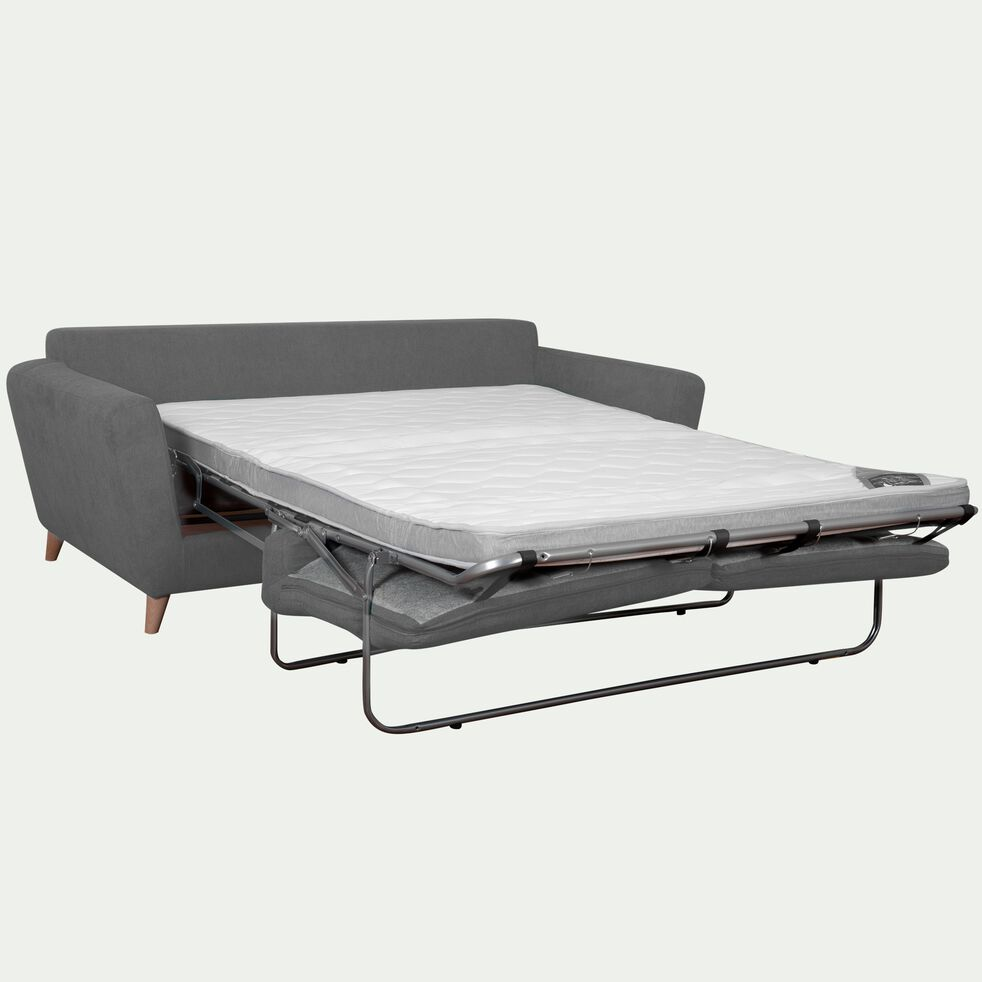 Canapé 3 places convertible en tissu - gris-ICONE