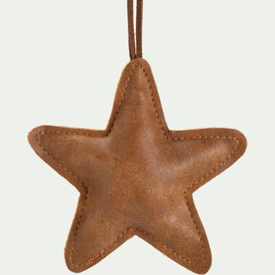 Suspension étoile 10x1x10cm en polystyrène - marron-STEDDA