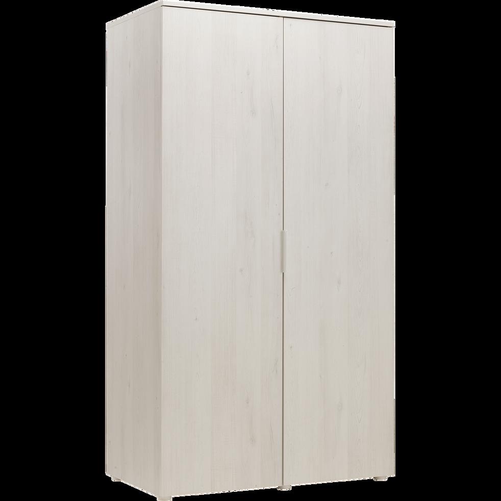 armoire 2 portes battantes cerisier blanchi brooklyn armoires alinea. Black Bedroom Furniture Sets. Home Design Ideas