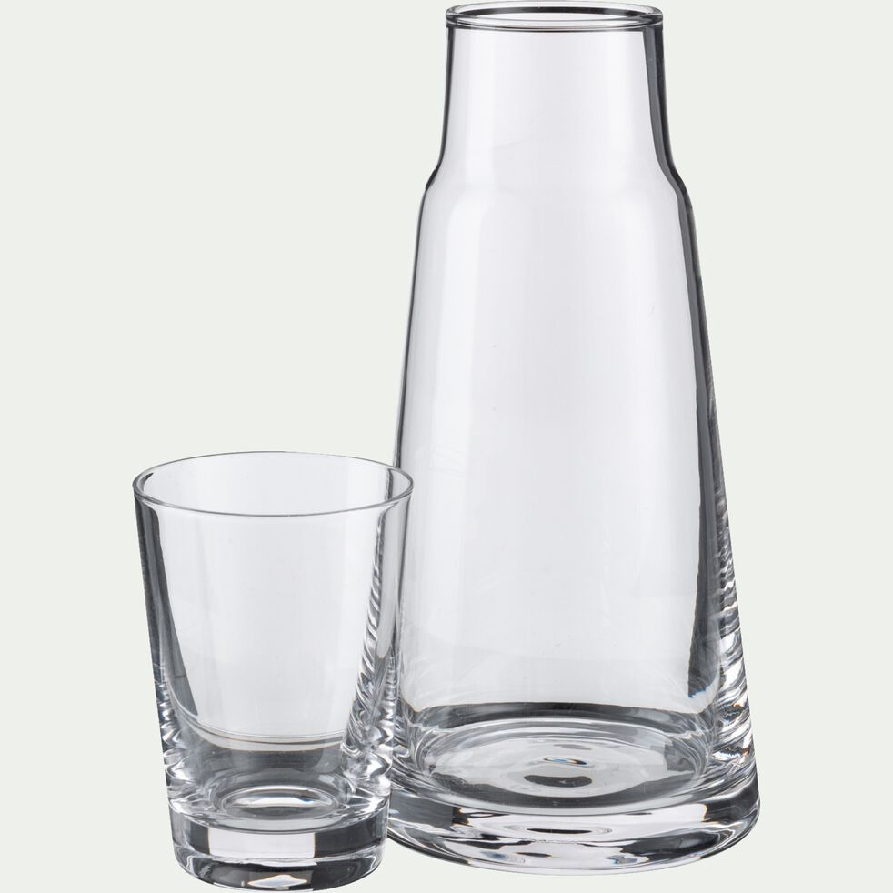 Pichet en verre borosilicate avec verre 0,6l - transparent-CACAN