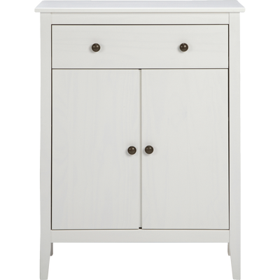 Commode en pin massif Blanc-LISON