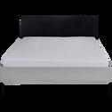 Lit 2 places gris 140x200cm-CASTEL