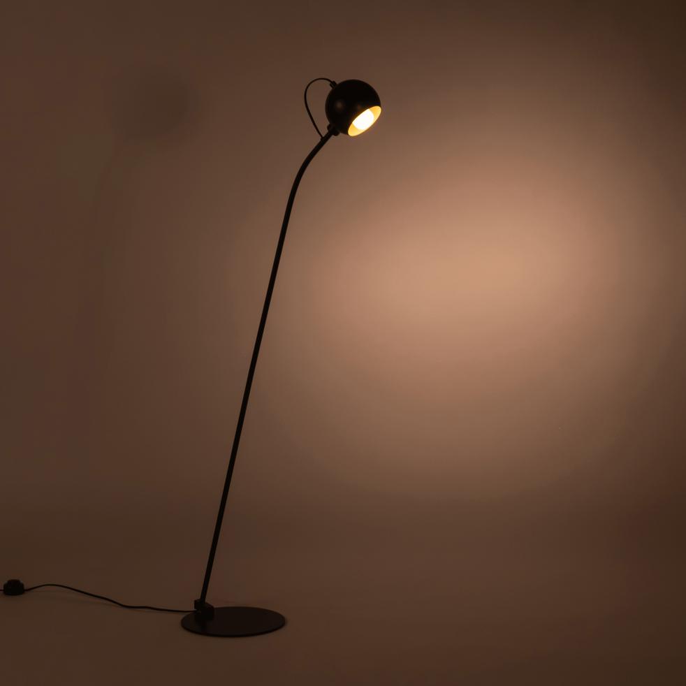 Lampadaire en métal noir H126cm-BALL
