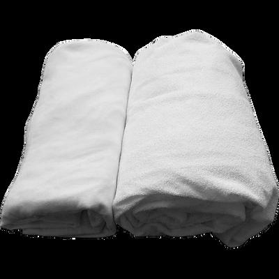Lot protège matelas et drap housse 90x140cm-CLAIRE