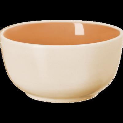 Coupelle bicolore en faïence orange D14cm-CANOPE