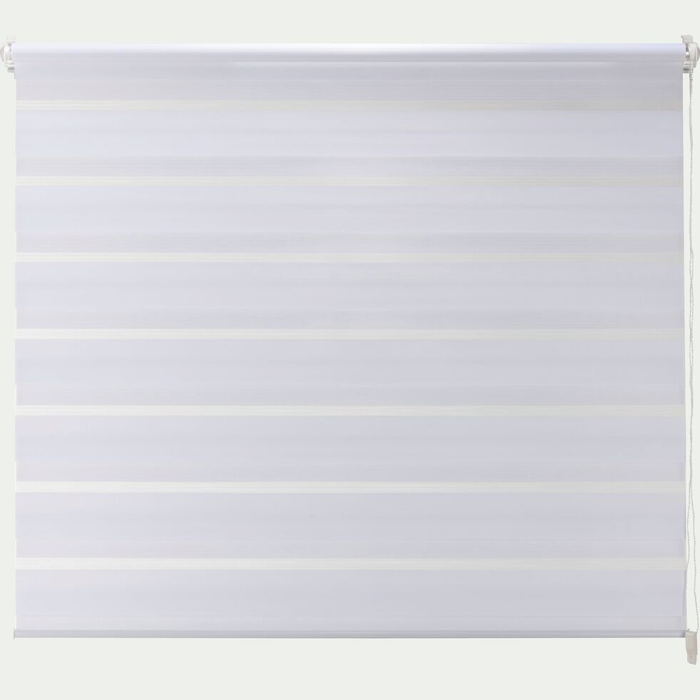 Store enrouleur tamisant - blanc 122x190cm-JOUR-NUIT
