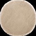 Tapis rond à poils longs blanc écru D120cm-KRIS