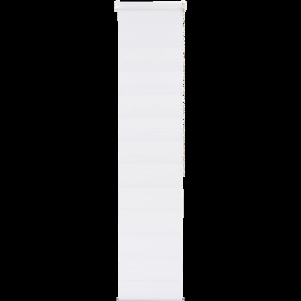 Store enrouleur tamisant épais blanc 37x190cm-JOUR-NUIT