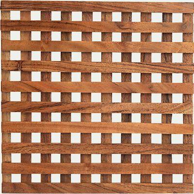 Dessous de plat en acacia carré - marron-APARA