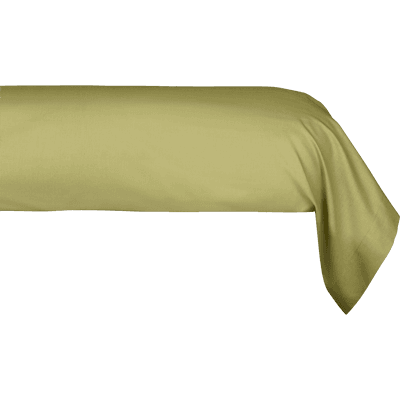 Taie de traversin en coton Vert guarrigue 43x190cm-CALANQUES