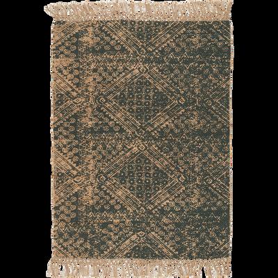 Tapis en jute à motifs vert cèdre 120x170cm-MAO