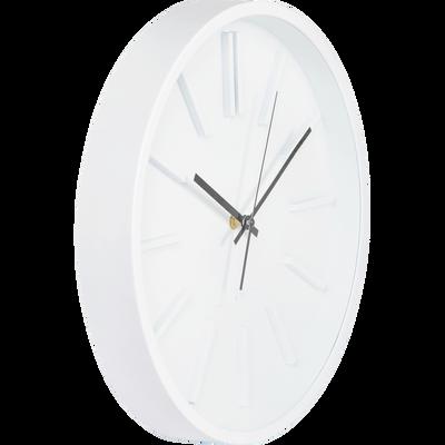 Horloge murale blanche D35,5cm-LITTORAL