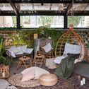 Banc de jardin en rotin naturel (2 places)-SEVILLE
