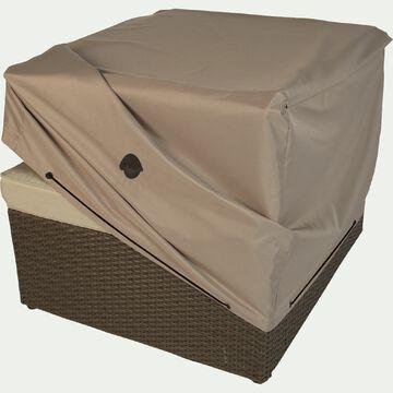 Housse de protection pour fauteuil de jardin - beige alpilles - (75x75xH60cm)-RIANS