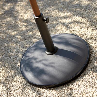 Pied de parasol en béton et acier 30kg Gris-Dolly