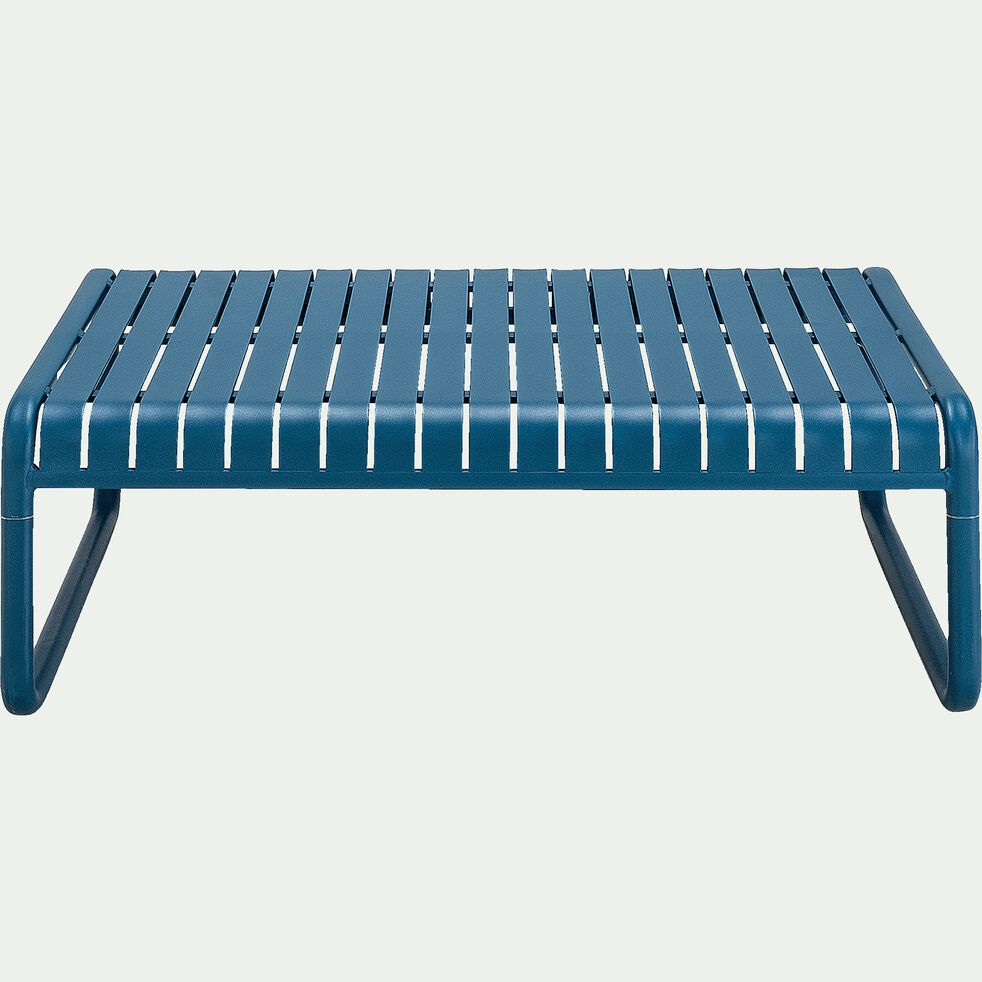 Table basse de jardin en aluminium - bleu figuerolles-DOUME