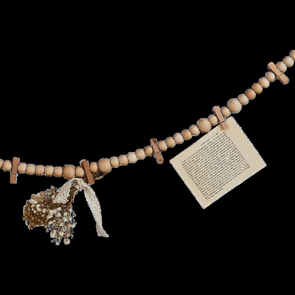 Guirlande de bois avec pinces l150cm adele accessoires - Guirlande porte photo avec pinces linge ...
