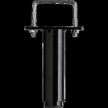 Pied de sommier central Noir - H20 à 32 cm-Pied centra