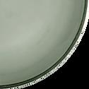 Assiette à dessert en faïence vert olivier D20cm-LANKA