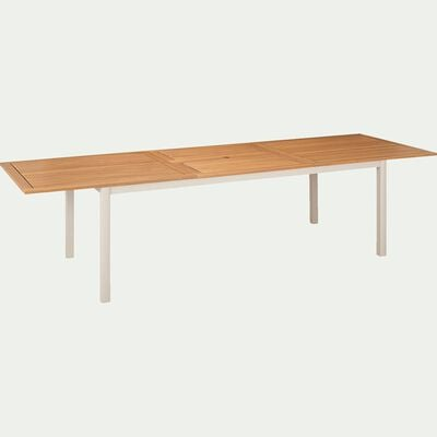 Table de jardin extensible en eucalyptus et aluminium (8 à 12 places)-DOLE