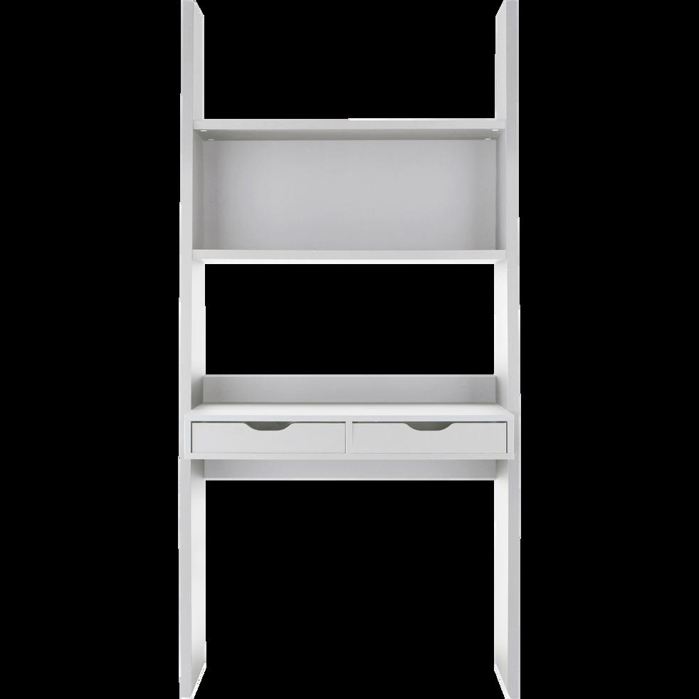 Bureau étagère blanc à 2 tiroirs H186cm-YOLO