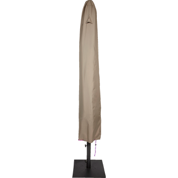 Protection taupe pour parasol (L35xP35xH210cm)-HOUSSE