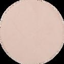 Tapis rond imitation fourrure rose argile - Plusieurs tailles-ROBIN