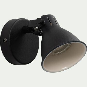 Spot LED D10xH10cm - noir-SERAS