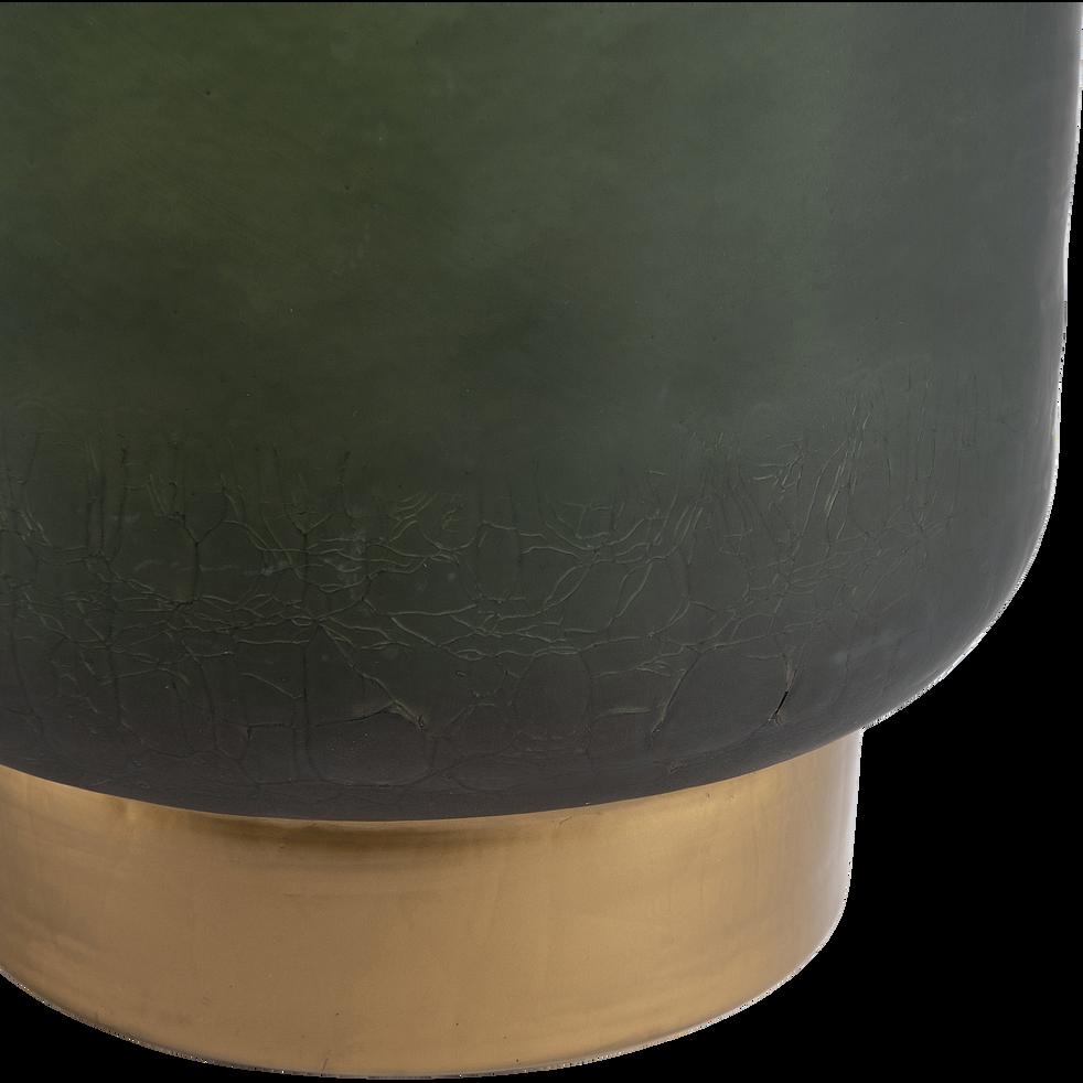 Photophore en verre vert H25cm-Mindelo