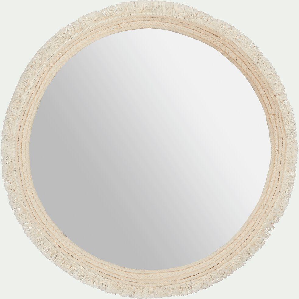 Miroir rond en tissu D41,5cm-DONIA