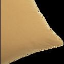 Coussin de sol en coton beige nèfle 70x70cm-CALANQUES