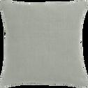 Coussin en lin lavé vert olivier 45x45cm-VENCE