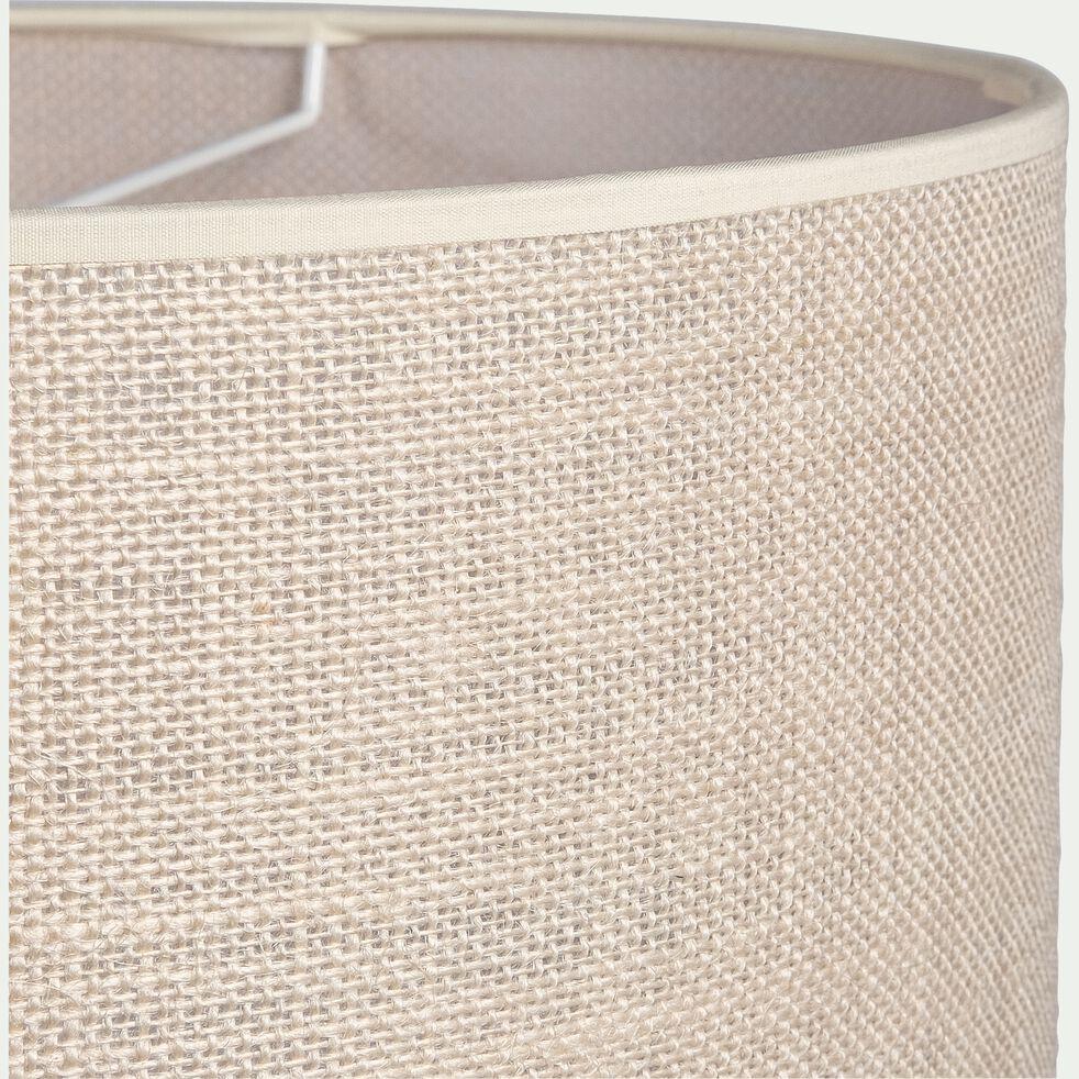 Abat-jour en jute - blanc D35xH19cm-ANDEL