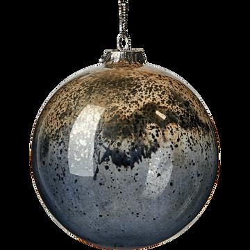 Boule en verre noir D12cm-RIQUET