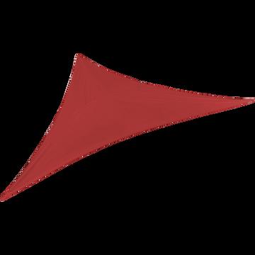 Voile d'ombrage triangulaire 3,5m rouge azérole-ROSA