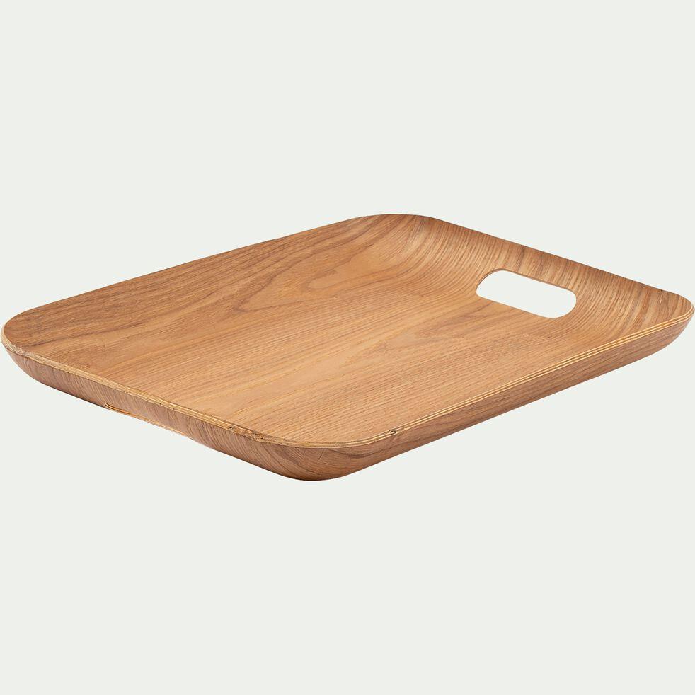 Plateau rectangle en bois L45xl36cm - naturel-SAULE