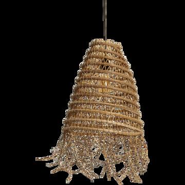 Suspension fait main en palmier naturel D39cm-ORIA