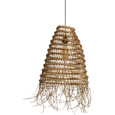 Suspension fait main en palmier naturel D39cm-ORIA