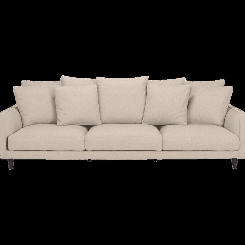 Canapé 5 places fixe en tissu beige roucas - LENITA ...