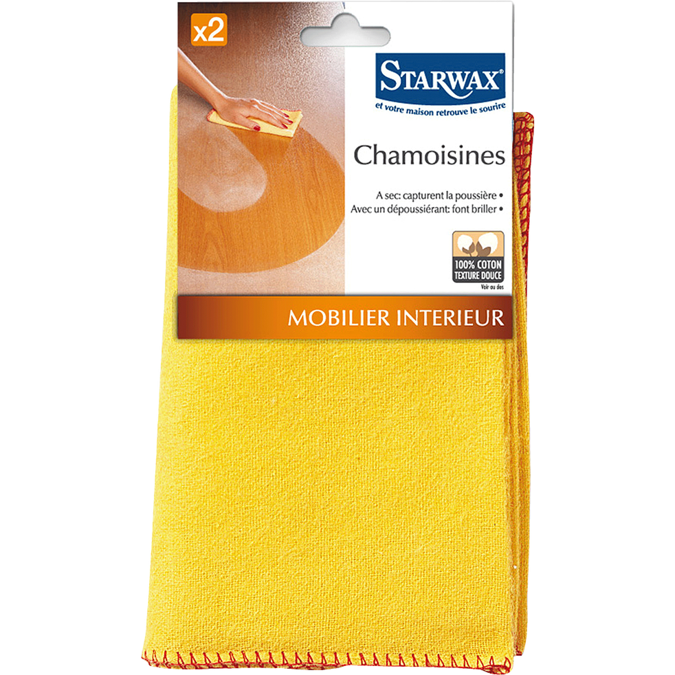 Lot de 2 chamoisines 40x50cm-Starwax