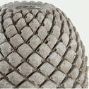 Bougeoir en béton - D10,5x12cm gris-CALCIS