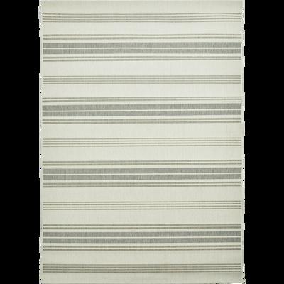 Tapis d'extérieur à rayures gris 160x230 cm-ELOISE