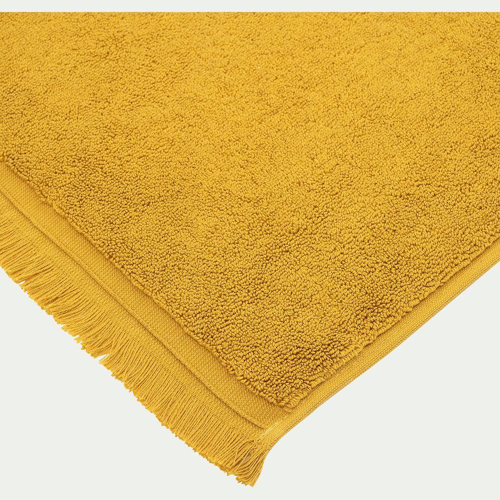 Tapis de bain en coton - jaune argan 50x80cm-Ryad