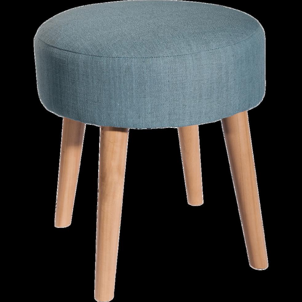 pouf en tissu bleu d35cm plume poufs et repose pieds alinea. Black Bedroom Furniture Sets. Home Design Ideas