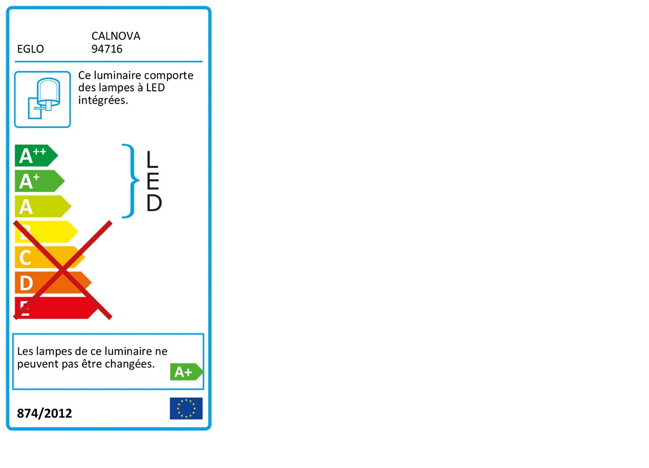 Réglette lumineuse pour salle de bain L60cm-CALNOVA