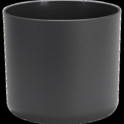 Cache-pot gris anthracite en plastique H17xD18cm-B FOR