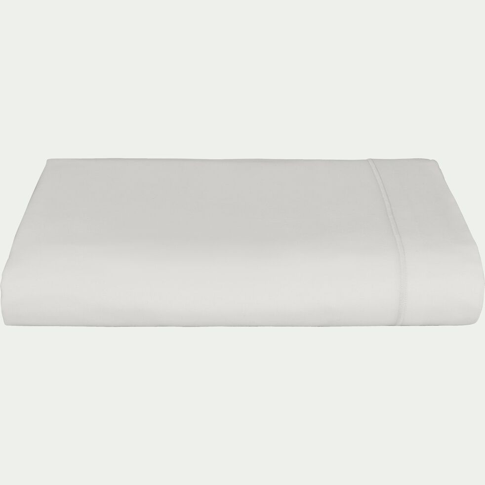 Drap plat en coton - blanc capelan 180x300cm-CALANQUES