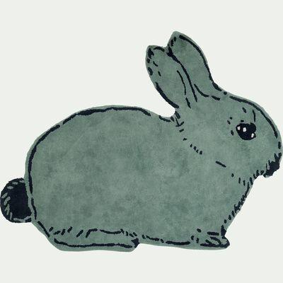 Tapis enfant forme lapin 120x150cm - bleu-Naneto